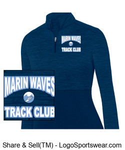 MARIN WAVES WOMEN'S 1/4 ZIP PULLOVER Design Zoom