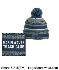 MARIN WAVES NEW ERA POM BEANIE Design Zoom