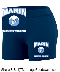 MARIN WAVES GIRLS PERFORMANCE SHORT Design Zoom