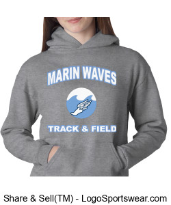 MARIN WAVES CHAMPION YOUTH DOUBLE DRY ECO PULLOVER HOOD Design Zoom