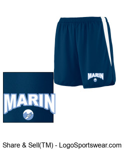 MARIN WAVES ADULT MEN'S TRACK SHORT Design Zoom