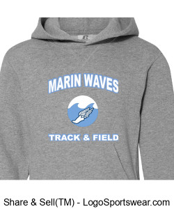 MARIN WAVES RUSSELL ADULT DRI-POWER PULLOVER HOODED SWEATSHIRT Design Zoom