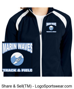 MARIN WAVES LADIES TRACK JACKET Design Zoom