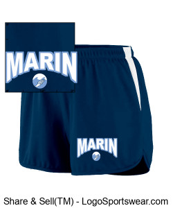 MARIN WAVES LADIES TEAM UNIFORM SHORT Design Zoom