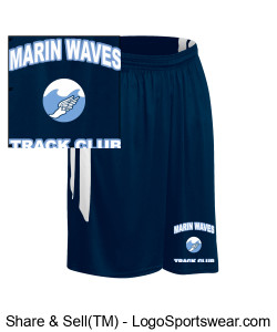 MARIN WAVES YOUTH MUSCLE DRI-GEAR SHORT Design Zoom