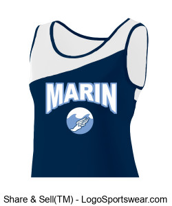 MARIN WAVES LADIES TEAM JERSEY Design Zoom