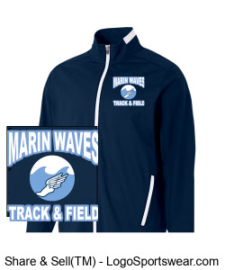 MARIN WAVES YOUTH TRACK JACKET Design Zoom