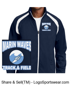 MARIN WAVES MEN'S TEAM TRACK JACKET Design Zoom
