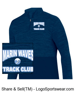 MARIN WAVES MEN'S 1/4 ZIP PULLOVER Design Zoom