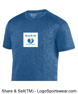 MARIN WAVES PERFORMANCE YOUTH T-SHIRT Design Zoom