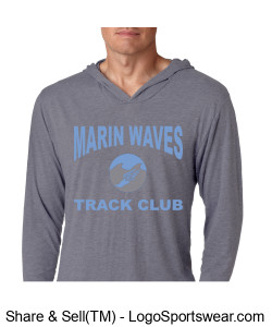 MARIN WAVES LONG SLEEVE HOODED T-SHIRT Design Zoom